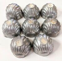 Vintage Aluminum Sea Shell Jello/Cake Molds, Farm House / Beach Decor, Set of 8
