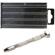 20Pcs Mini Tiny Micro HSS Twist Drill Bit Set 0.3mm-1.6mm Model Craft With Case