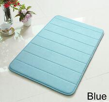 "24"" Non-Slip Back Rug Soft Bathroom Carpet Memory Foam Bath Mat Blue New"
