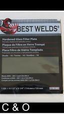 SHADE 9 WELDING FILTER PLATE 4.5 x 5.25 - HARDENED GLASS LENS for WELDING HELMET