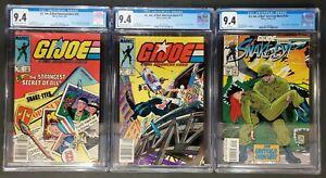 G.I. Joe, ARAH #26, #27 UPC/Newsstand #144 CGC 9.4 Origin of Snake Eyes set/lot 