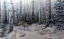 "Mark Daehlin ""Watched"" Wolf Print Image Size 33""X 17"""