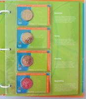 2006 Melbourne Commonwealth Games Complete set of 18 50c Coins in Folder