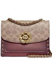 ❤️ Coach Parker 18 Rust 30592 Signature Canvas Mini Shoulder Bag