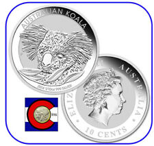 2010  Australia Koala 1/10 oz. Silver Coin in display card from Perth Mint