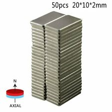 50pcs Super Strong Neodymium Block Magnets N52 Rare-Earth Rectangular 20*10*2mm