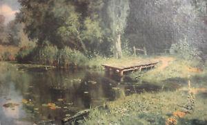 Vasily Polenov, 1965 Russian Forest River Landscape Print