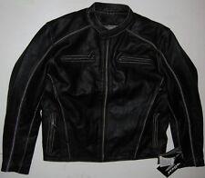 NEW! MOSSI SIZE 44 PREMIUM LEATHER JACKET Black Drifter Coat