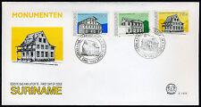 SURINAME E147A/B FDC 1991 - Monumenten  (2 stuks)