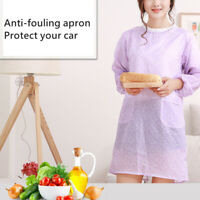CW_ Women Waterproof Long Sleeve Kitchen Cooking Baking Floral Apron Working Smo