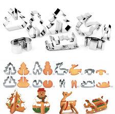 8PCS / SET 3D-Edelstahl-Plätzchen-Form-Metall-Fondant Cutter Mould Weihnachten~