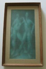 VINTAGE STEVAN KISSEL PAINTING ABSTRACT EXPRESSIONISM NUDE FIGURES MOD 1950's
