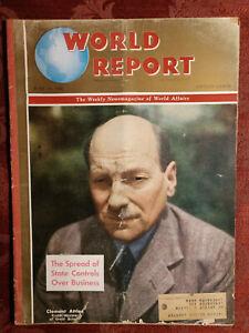WORLD REPORT magazine June 20 1946 Britain Clement Attlee
