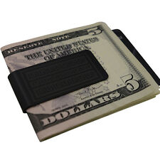 Mens Aztecian Black Money Clip -Stainless Steel- Slim Wallet Card Cash Holder