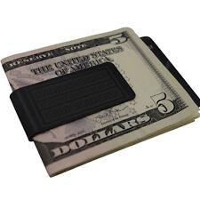 Mens Aztecian Black Money Clip -Stainless Steel- Slim Wallet Card Cash Holder