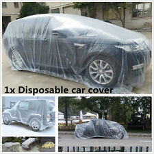 Large Disposable Transparent Plastic Car Waterproof Cover Rain Dust Snow Garage
