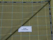 KITON 100% PURE WORSTED CASHMERE FABRIC, MIXTURE GREEN/CORN/TURQ/BLUE 2.45METRES