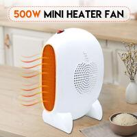 220V 500W Mini Desktop Heizung Heizlüfter Elektroheizer Heater Fan 2s