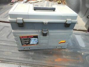 Vintage Plano 5757 XL Tackle Box Loaded with Baits-Lures-Rooster Tails +