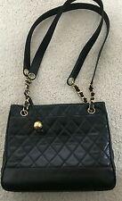 Vintage Chanel Black Quilted Shoulder Bag