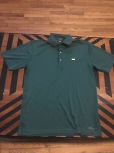 Masters Tech Green Mens Short Sleeve Polyester Golf Polo Shirt Small S