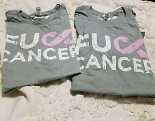 Fight F#ck Breast Cancer Awareness  T Shirt Large Couples Men L Woman's L
