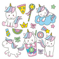 unicorn clothes patches heat transfer stickers diy printing iron on appliques LL