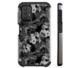 FUSION Case For Samsung A02S A12 A32 A52 A11  Phone Cover ARTISTIC CAMO GRAY