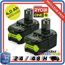Batterie compatible Ryobi One Plus 4.0ah 18v P108 P107 P100 P122 P104 P105 Etc..