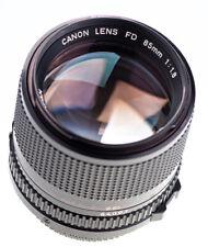Canon FD 85 mm f 1,8  / 8 Blades / SN:64091 / Prime Lens / 605