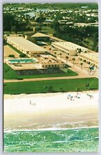 Aerial view of Quality Courts Motel in Cocoa Beach, Florida Chrome Postcard