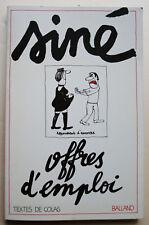 Offres d'emploi SINE & COLAS éd Balland 1978
