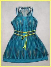 NWOT NIKE MARIA SHARAPOVA GOLDEN SET BLUE GREEN YELLOW MESH TENNIS DRESS L 12 14