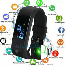 Waterproof Smart Watch Fit**bit Heart Rate Fitness Tracker Bluetooth Monitor BLK