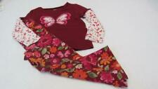 GYMBOREE Butterfly Girl Dbl Sleeve Shirt & Pull On Pants Size 4/4T EUC TL63