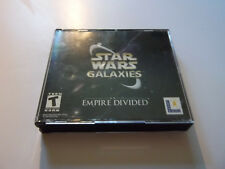 2003 Star Wars Galaxies An Empire Divided rare pc game with keycode