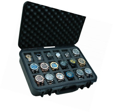 18 Watch Case Holder Travel Box Organizer Waterproof Storage Kit Bag Vintage