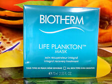 BIOTHERM LIFE PLANKTON Mask Integral Recovery Treatment 75ml Full Siz New in Box