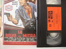 vhs pulp - la belva col mitra - lf video - da collezione privata - come nuova