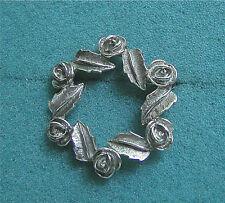 """ANTIQUE ROSE"" Silver Tone Pin - Sarah Coventry Jewelry - Sara Cov - Vtg"