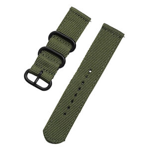 Universal Quick Release 18mm 20mm 22mm 24mm Nylon Canvas Fabric Watch Band Strap