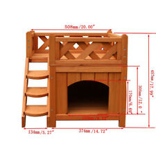 Wooden Pet House Cat Room Dog Puppy Large Kennel Indoor Outdoor Shelter