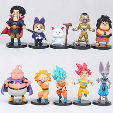 "Dragon Ball Z 4"" Mini Figures Lot of 10pc Super Saiyan Toy Set Collection Gift C"