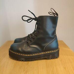 Dr Martens Jadon Vintage Quad Platform Black Blue Chunky Boots Size Uk 9 EU 43