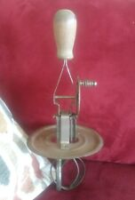 Vintage Hand mixer cake.Egg Beater .With Jar Splash Lid. Wood Handle USA T&S.#39