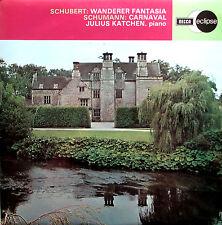 ECS 590 Schubert Wanderer Fantasia Schumann Carnaval Katchen NM/EX Decca Eclipse