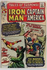 TALES OF SUSPENSE  #61 MARVEL 1965 < F> IRON MAN, CAPT. AMERICA - Jack Kirby