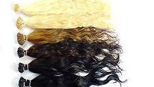 25 Str. ind. Cabello natural 1g Microringe Extensiones de pelo