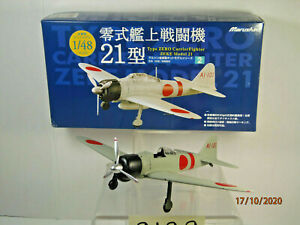 Marushin 1/48 A6M2 WW2 Zero Fighter Type21 Diecast Not Assembled