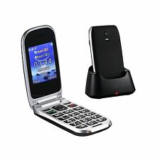 "Easyfone W77 Senior Unlocked GSM Flip Cell Phone (T-Mobile) SOS Button 2.4"" L..."